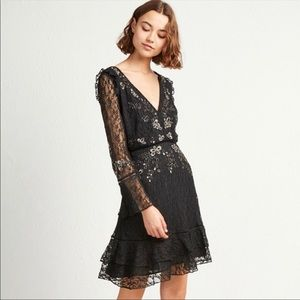 French Connection NWT Bella Sparkle Lace Dress